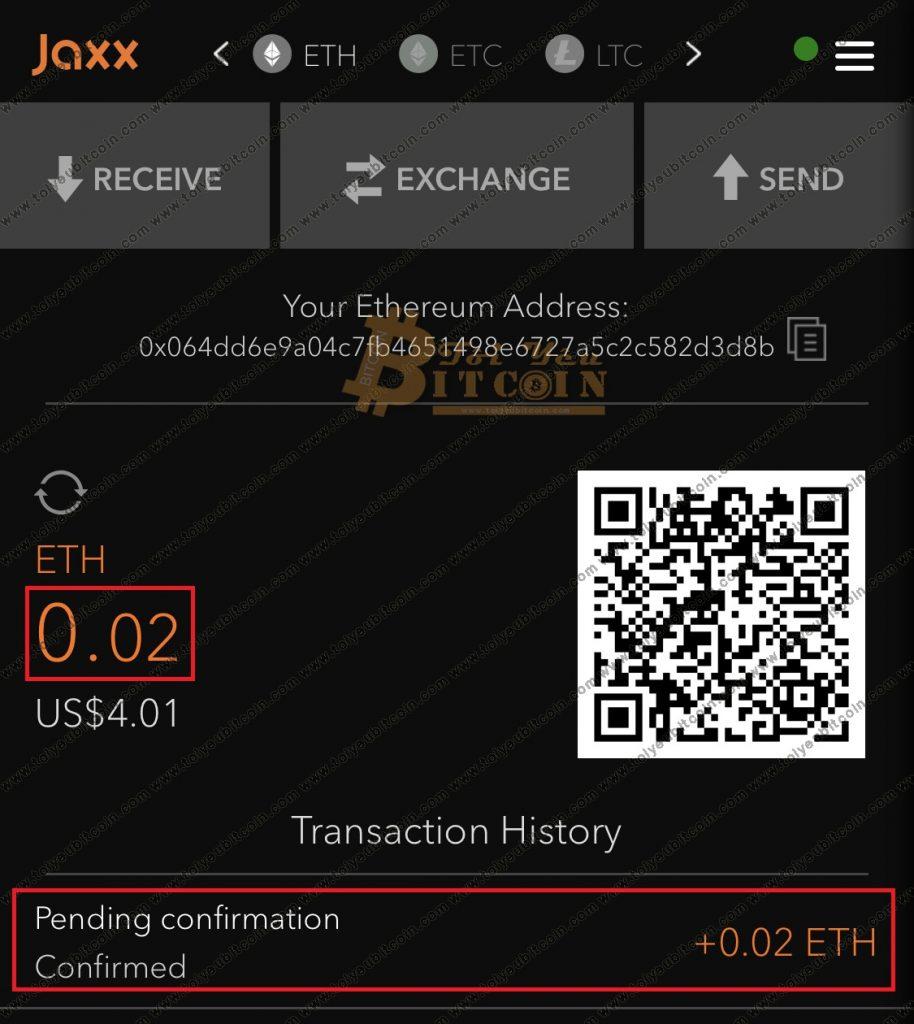 Cách nạp tiền vào ví JAXX