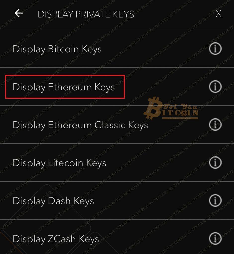 Cách lấy Private key trên ví JAXX. Ảnh 3