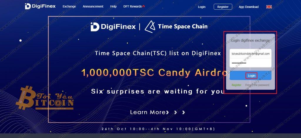 Đăng nhập vào DigiFinex