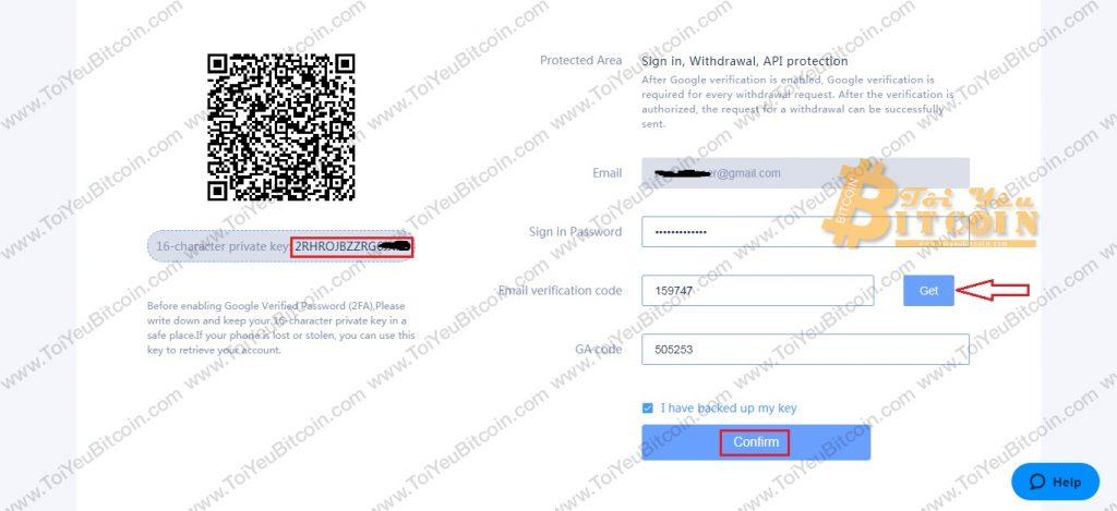 Bảo mật 2FA cho RightBTC. Ảnh 4