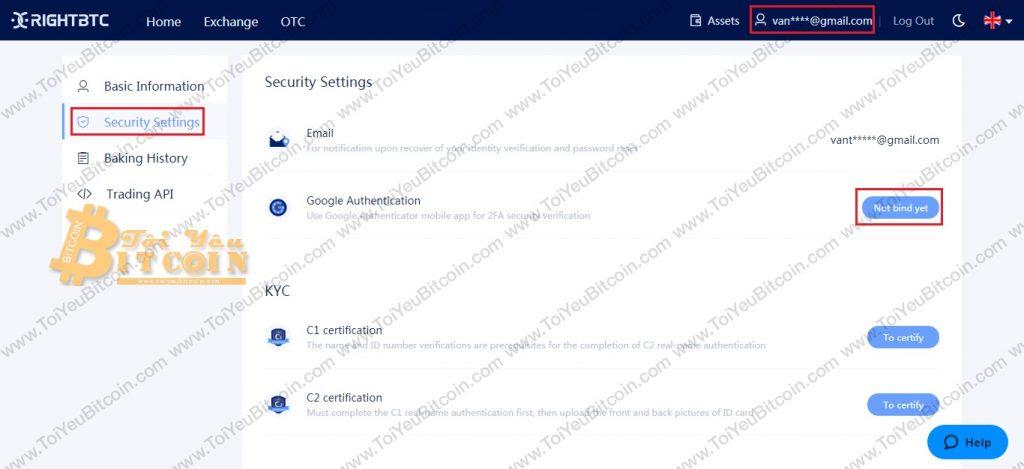 Bảo mật 2FA cho RightBTC. Ảnh 1