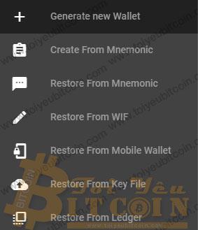 Tính năng đăng nhập vào ví Qtum