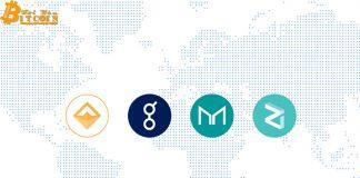 Coinbase niêm yết 4 token mới