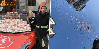 Triệu phú Bitcoin rải tiền từ tầng thượng đã bị cảnh sát Hồng Kông bắt giữ