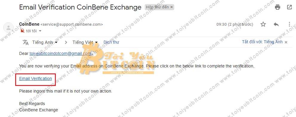 Đăng ký tạo tài khoản trên Coinbene. Ảnh 3