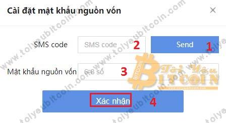 Thiết lập mật khẩu rút tiền Coinbene. Ảnh 2