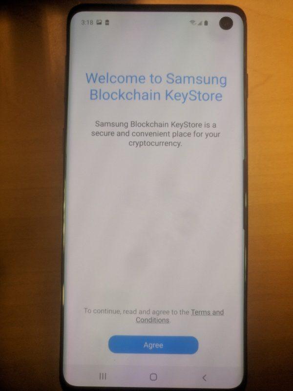 Ứng dụng Samsung Blockchain KeyStore trên thiết bị được cho là Galaxy S10