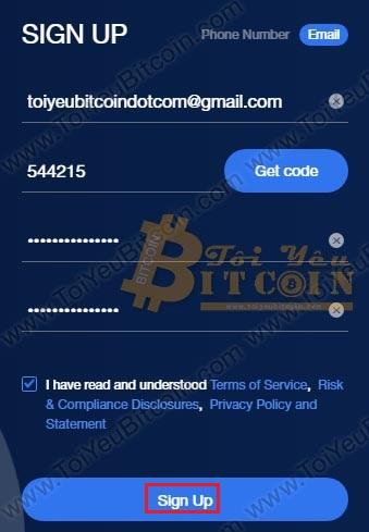 Các đăng ký tạo tài khoản CoinAll. Ảnh 3