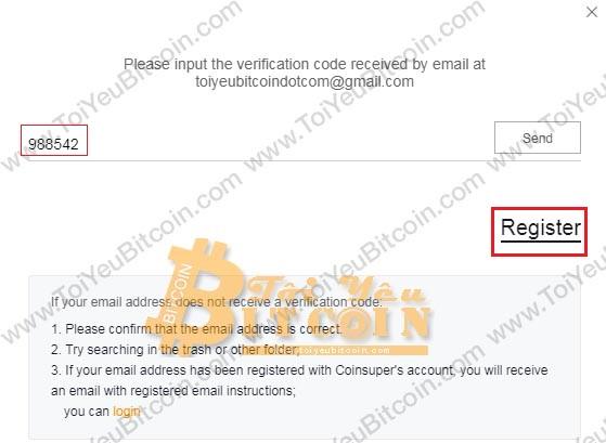 Cách đăng ký tạo tài khoản Coinsuper. Ảnh 3