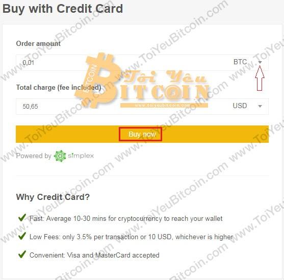 Mua coin bằng thẻ tín dụng Visa/MasterCard trên Binance. Ảnh 2