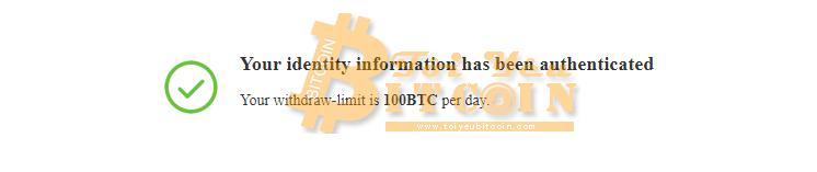 KYC BitMax thành công