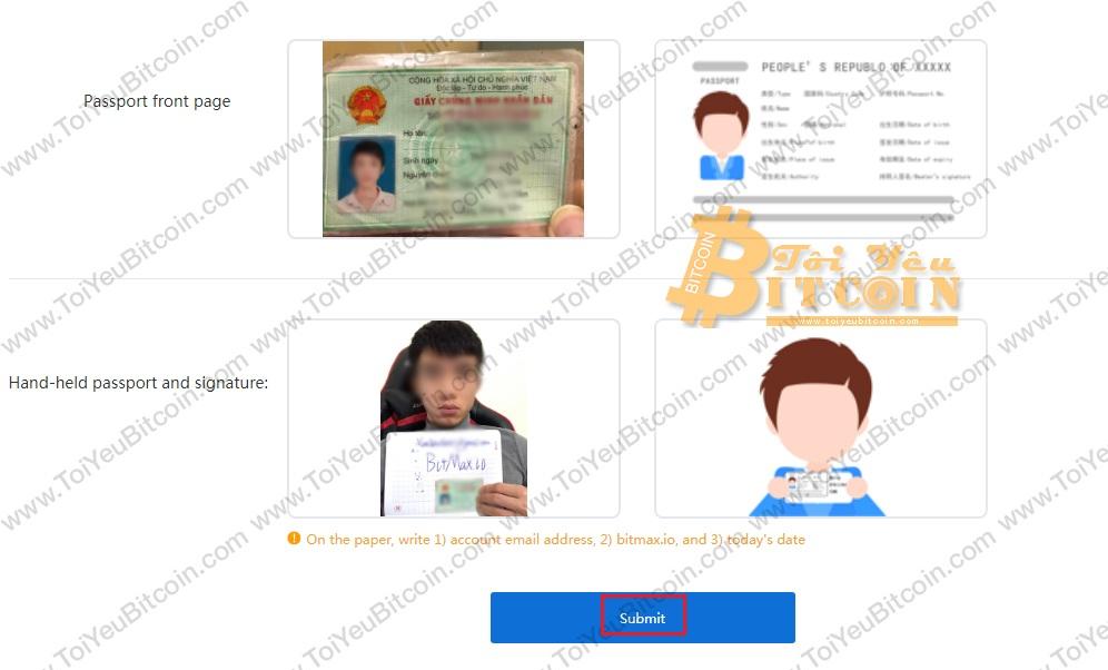 Cách xác minh tài khoản BitMax. Ảnh 2
