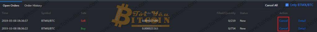 Cách trade coin trên sàn BitMax. Ảnh 5