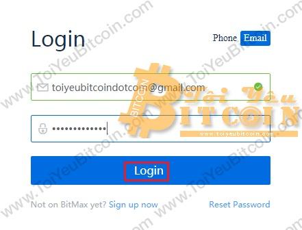 Cách đăng nhập vào sàn BitMax. Ảnh 2