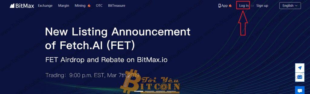 Cách đăng nhập vào sàn BitMax. Ảnh 1