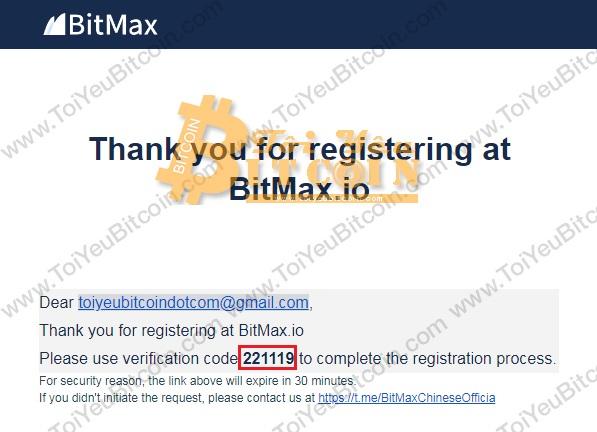 Cách đăng ký tạo tài khoản sàn BitMax. Ảnh 2