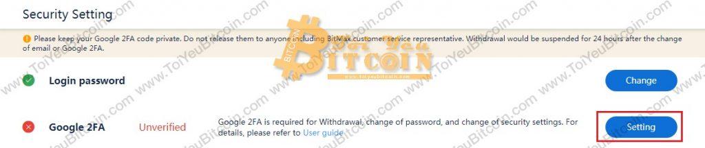 Cách bảo mật tài khoản BitMax. Ảnh 2