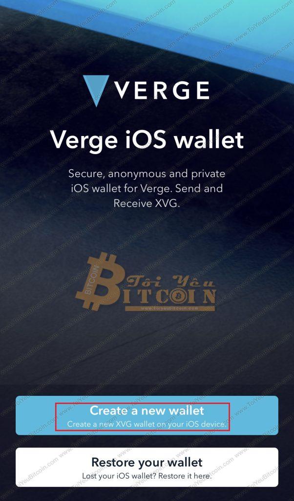 Cách tạo vi Verge coin trên điện thoại. Ảnh 1