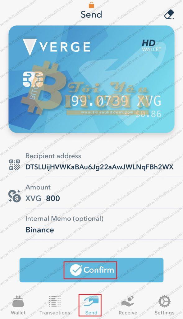 Cách rút tiền từ ví Verge Tor. Ảnh 3