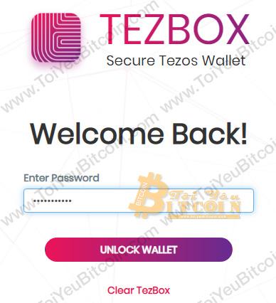 Đăng nhập vào ví TezBox