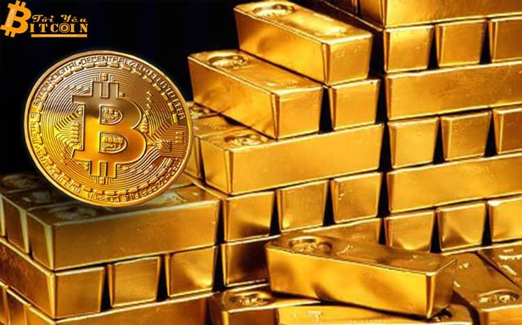 Tương quan ngược giữa giá vàng – giá Bitcoin chạm ngưỡng cao nhất 1 năm