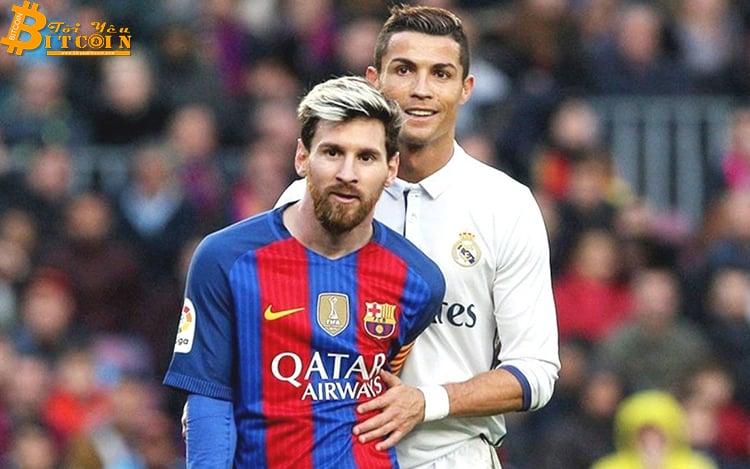 Cristiano Ronaldo và Lionel Messi sẽ nhận lương bằng bao nhiêu Bitcoin?