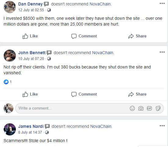 NovaChain Exit scam