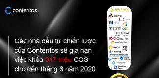 Contentos: Các quỹ đầu tư cam kết khoá token cho tới tháng 6/2020