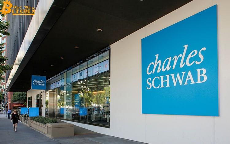 """Công ty môi giới khổng lồ Charles Schwab """"nói không"""" với tiền điện tử"""