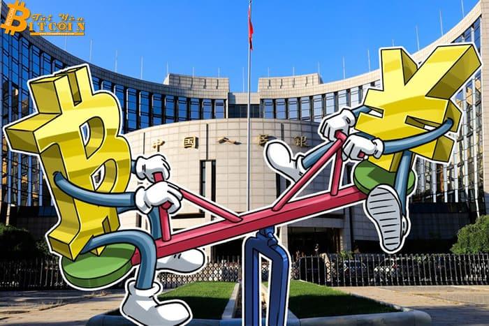 Bitcoin đạt kỷ lục tương quan nghịch với CNY trong tuần qua