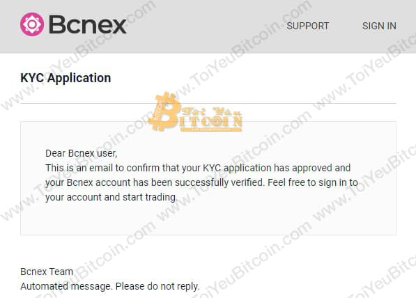Cách xác minh tài khoản trên Bcnex. Ảnh 6