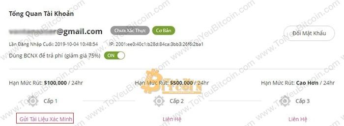 Cách xác minh tài khoản trên Bcnex. Ảnh 1