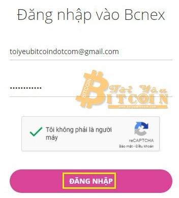 Cách đăng nhập vào sàn Bcnex. Ảnh 2