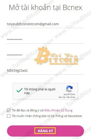 Cách đăng ký tạo tài khoản Bcnex. Ảnh 1