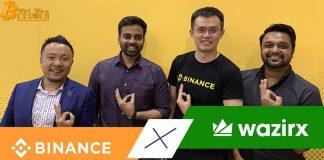 Binance mua lại nền tảng giao dịch tiền mã hoá WazirX hàng đầu Ấn Độ