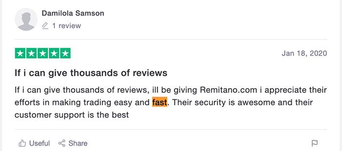 Trải nghiệm người dùng trên sàn Remitano