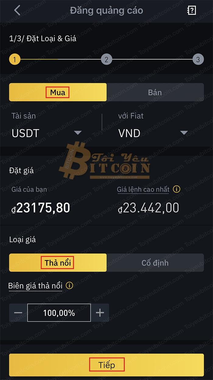 Cách tạo quảng cáo mua coin trên Binance P2P. Ảnh 2