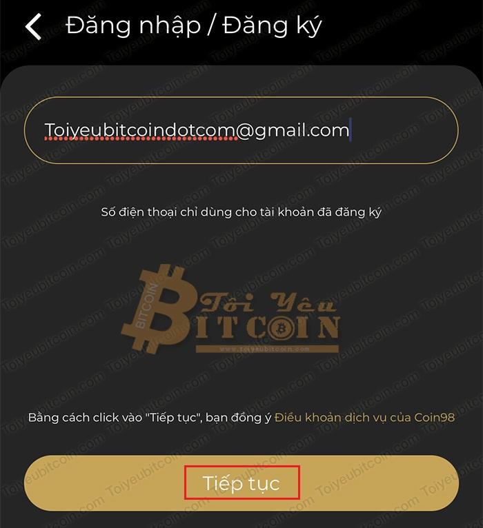 Cài đặt app Coin98 trên điện thoại. Ảnh 4