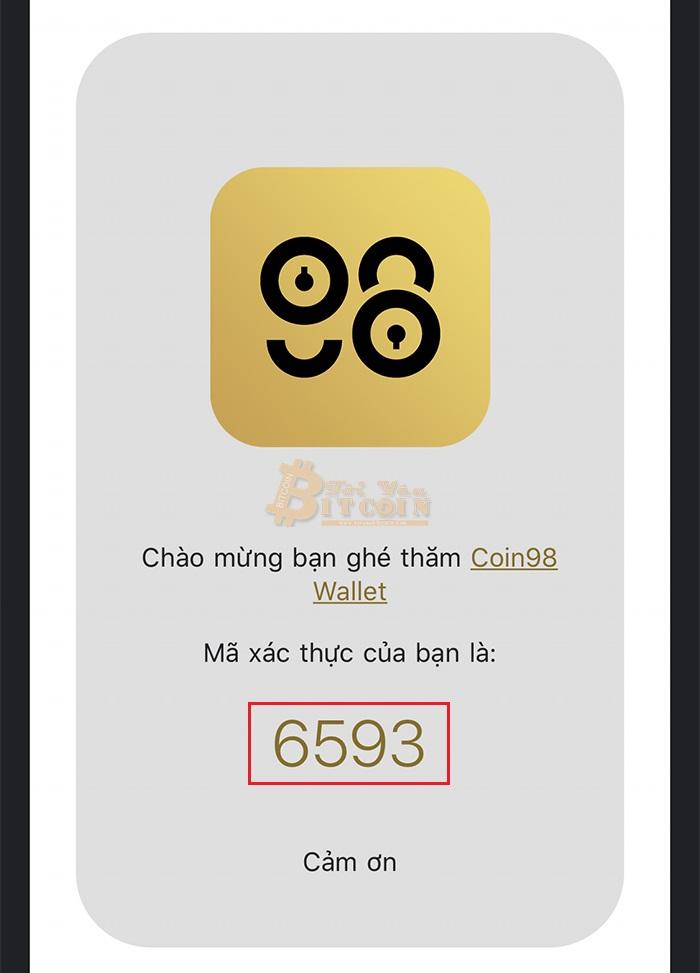 Cài đặt app Coin98 trên điện thoại. Ảnh 5