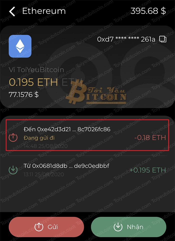 Cách rút/chuyển con/token từ ví Coin98 Wallet. Ảnh 4