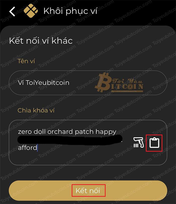 Khôi phục ví Coin98 Wallet bằng Passphrase hoặc Private key. Ảnh 3