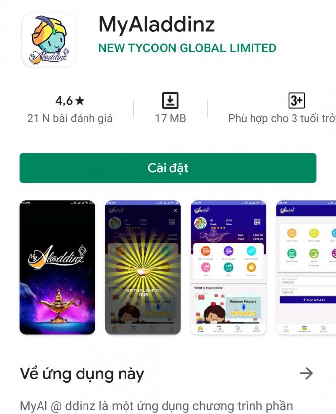 Công an tỉnh Quảng Nam có văn bản đề nghị người dân cảnh giác, không tham gia nạp tiền vào ứng dụng (app) thanh toán hộ có tên Myaladdinz.