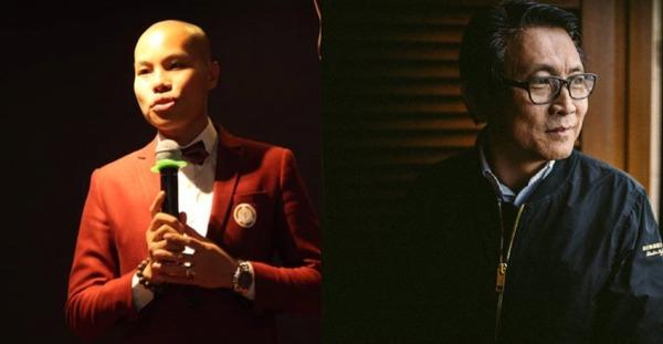 """Ông Lê Hoàn (người bên trái) từng nhiều lần khẳng định """"cha đẻ"""" của app My Aladdinz là """"tỷ phú"""" Richard Tan (người bên phải)."""