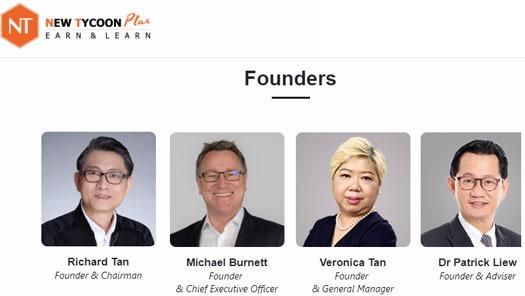 Đội ngũ sáng lập của NewTycoon Plus. Ảnh: NewTycoon Plus.