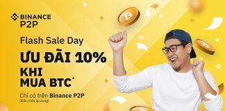 Binance P2P triển khai chương trình Flash Sale Day – Ưu đãi 10% khi mua BTC