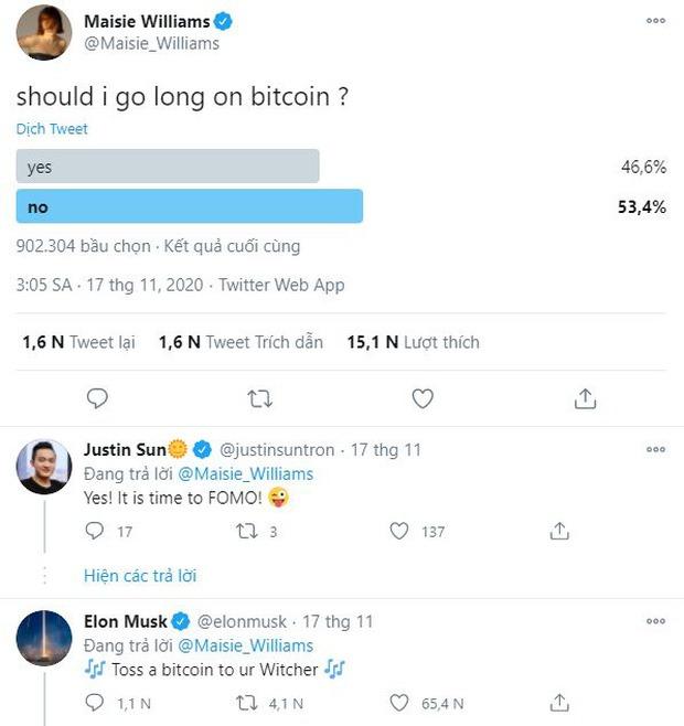 Phần đông mọi người khuyên Maisie không nên mua bitcoin ở hiện tại