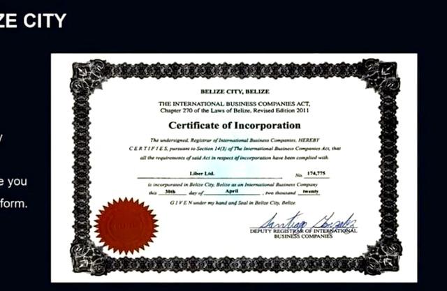 Giấy phép được những người môi giới của Forex Liber quảng cáo là từ Ủy ban dịch vụ Tài chính Quốc tế Belize IFSC.