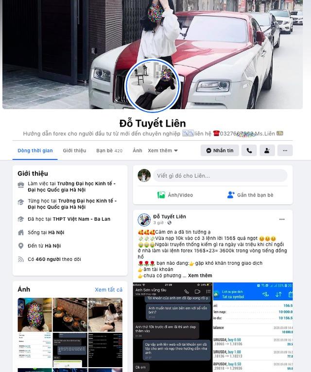 Facebook của nam nhân viên môi giới giả thành gái để chăn khách