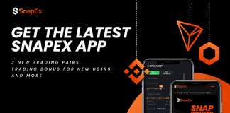 SnapEx niêm yết LINK, BNB và TRX cùng với phần thưởng đăng ký trên ứng dụng mới tuyệt đẹp