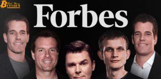 Forbes công bố danh sách tỷ phú Bitcoin giàu nhất thế giới